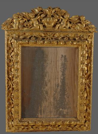 Miroir louis xiv en bois sculpt et dor for Acheter miroir ancien